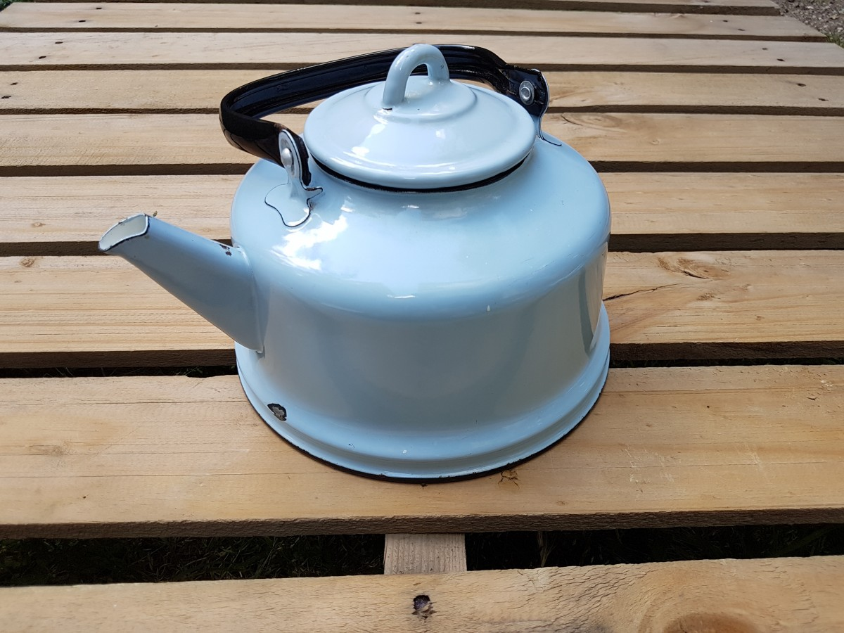Rus Malı Açık Mavi Çinko Çaydanlık Beg_2348