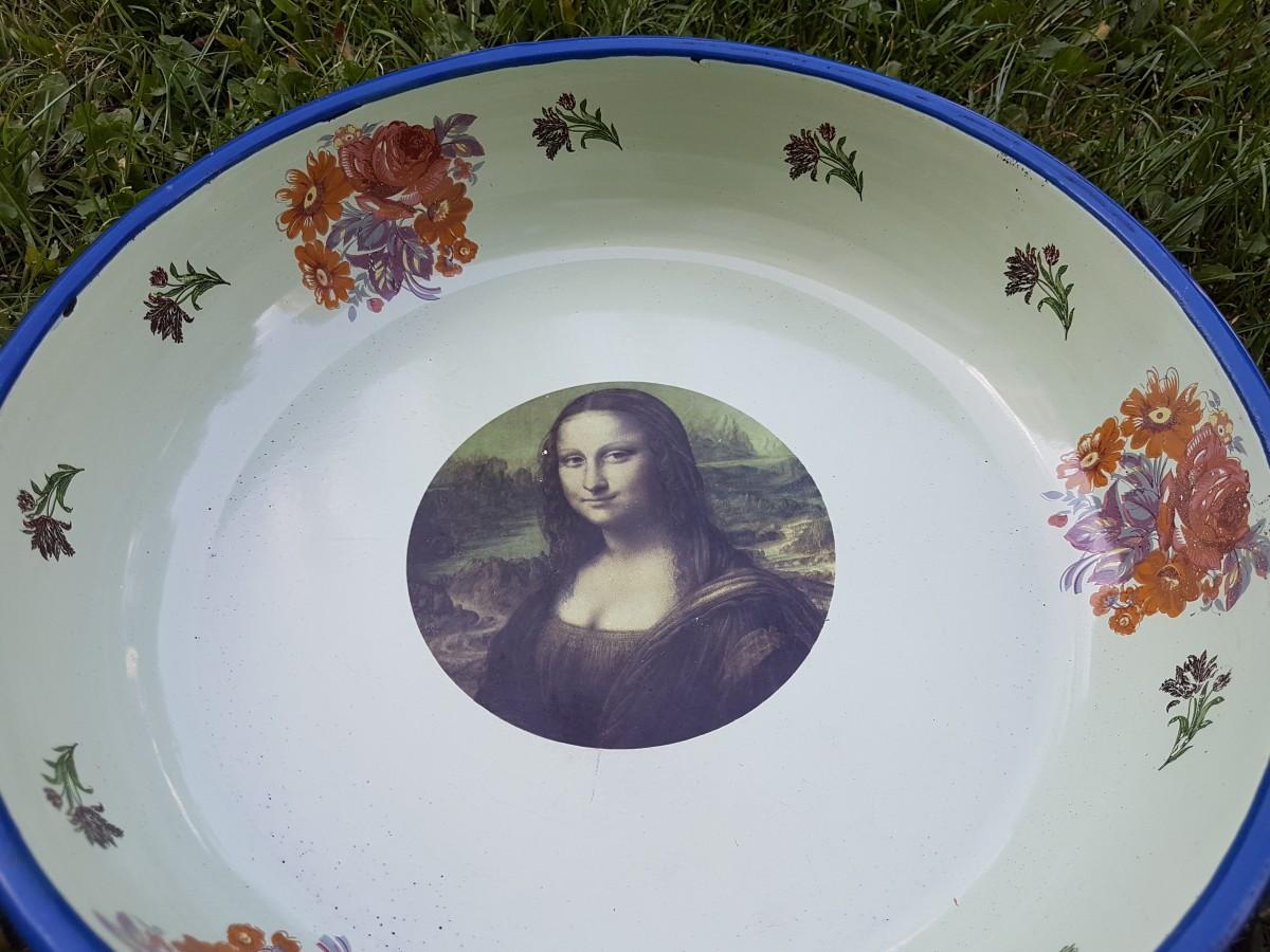 Açık Yeşil Zemin Mona Lisa Çinko Sahan Beg_2405