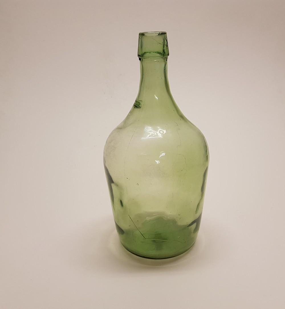 Eski Yeşil Cam Şişe H 32 Cm   3 Litre Beg_3109