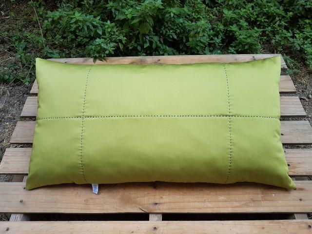 45 X 85 Cm Osmanlı Çini Desenli Yeşil Bordürlü Dekoratif Yastık Beg_3106