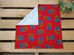 Kırmızı Mavi Çan Çiçekli Bohça Ekmeklik Beg_1428