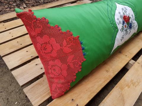 Beg_2225_kırmızı-yeşiltasarım Yastık