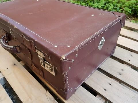 Kahverengi Hakiki Deri Eski Valiz Beg_2286