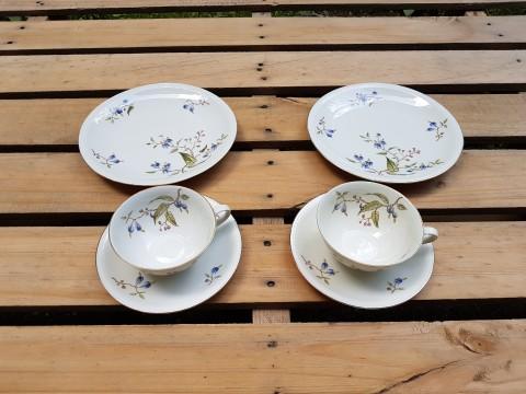 Eski Bavarıa Porselen İkili Çay Seti Beg_2323