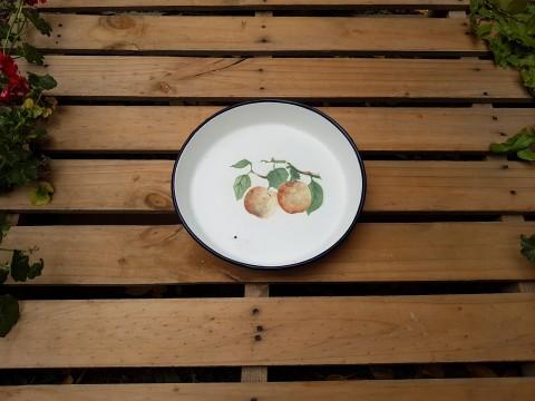 Eski Rus Malı Elma Desenli Çinko Tepsi Beg_2481