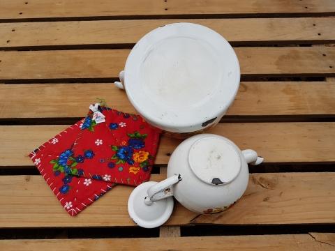 Desenli Çinko Çaydanlık Tk