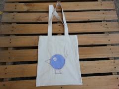 Mavi Kareli Kuş Çanta