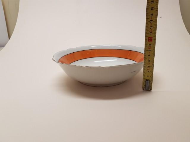 Porselen Erikli Dometesli Kase Çap 23 Cm H 7 Cm Beg_3118