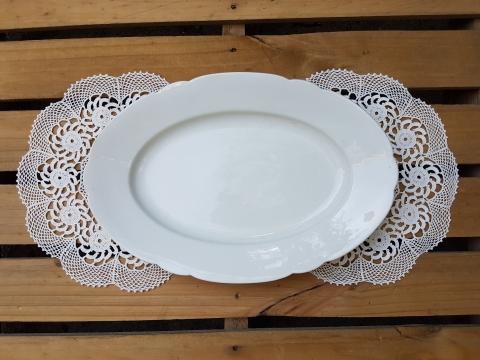 Porselen Oval Tabak