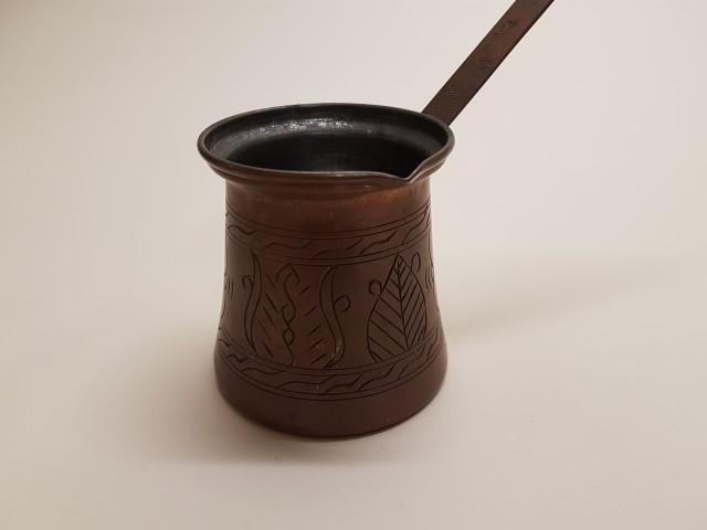 R=8 Cm Eski Erzincan İşi Bakır Kahve Cezvesi_beg_2809
